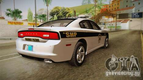 Dodge Charger 2013 SA Highway Patrol v1 для GTA San Andreas вид справа