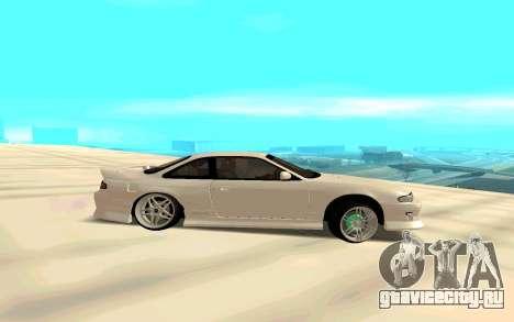 Nissan Silvia White S14 для GTA San Andreas вид слева