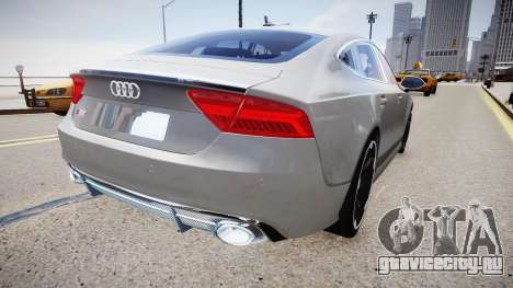 Audi RS7 2015 для GTA 4 вид сзади слева