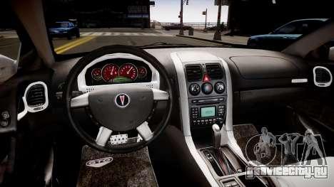 Pontiac GTO для GTA 4 вид изнутри