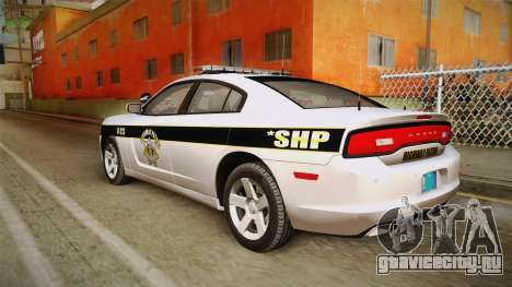 Dodge Charger 2013 SA Highway Patrol v1 для GTA San Andreas вид слева