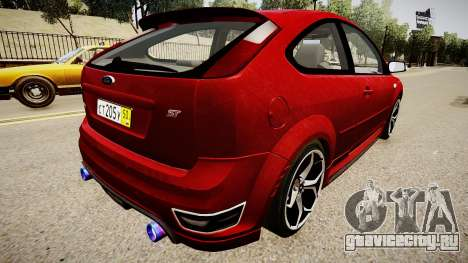 Ford Focus ST 2005 для GTA 4 вид сзади слева