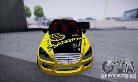 SsangYong Kyron 2 Rally Dacar для GTA San Andreas вид сзади слева