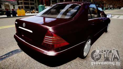 Mercedes-Benz S600 Special Edition для GTA 4 вид сзади слева