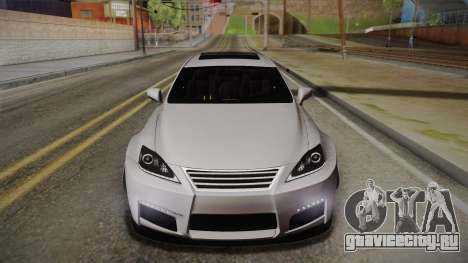 Lexus IS F 2009 Hachiraito для GTA San Andreas вид сбоку