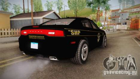 Dodge Charger 2013 SA Highway Patrol v2 для GTA San Andreas вид сзади слева