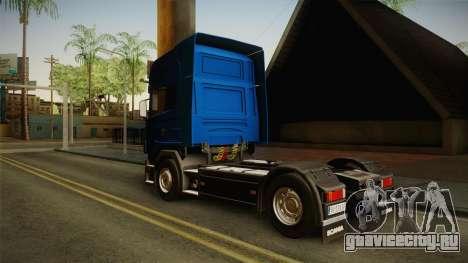 Scania V8 для GTA San Andreas вид сзади слева
