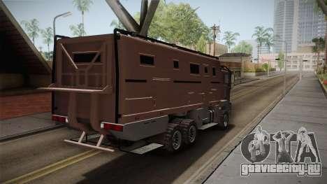 GTA 5 MTL Brickade IVF для GTA San Andreas вид сзади слева