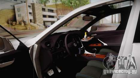 Lexus IS F 2009 Hachiraito для GTA San Andreas вид изнутри