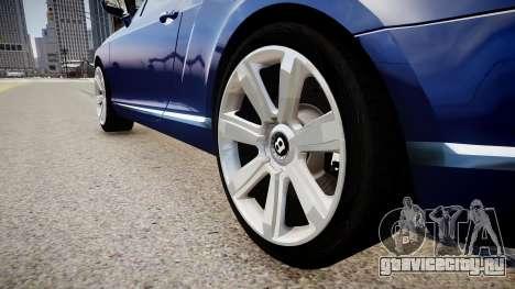Bentley Continental GT 2011 [EPM] v1.0 для GTA 4 вид сзади