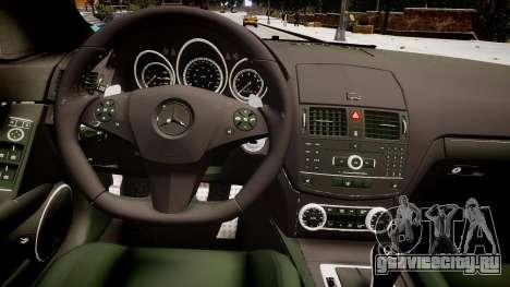 Mercedes-Benz C180 AMG для GTA 4 вид изнутри