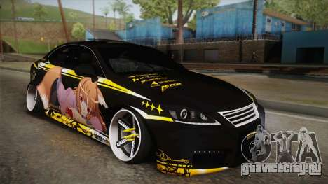 Lexus IS F 2009 Hachiraito для GTA San Andreas вид снизу