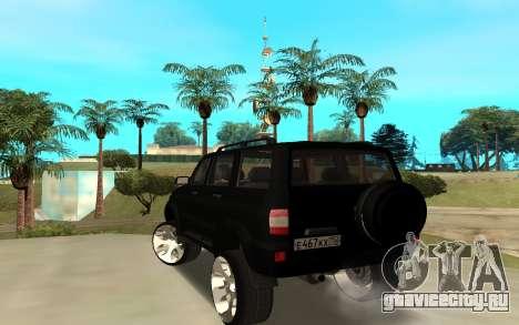 УАЗ Патриот 2014 для GTA San Andreas вид сзади слева
