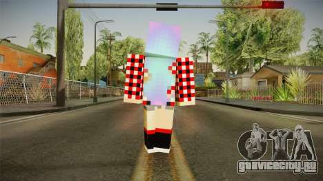 Minecraft Gamer Girl (Normal Maps) для GTA San Andreas третий скриншот