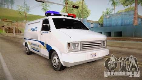 Brute Pony 1992 Metropolitan Police Department для GTA San Andreas