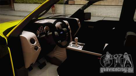 Ford F-150 2005 King Cab для GTA San Andreas вид изнутри