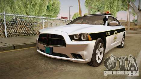 Dodge Charger 2013 SA Highway Patrol v1 для GTA San Andreas вид сзади слева