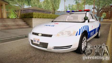 Chevrolet Impala Turkish Police для GTA San Andreas