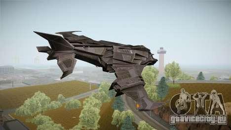 Batman Arkham Knight Batwing v1.0 для GTA San Andreas вид справа
