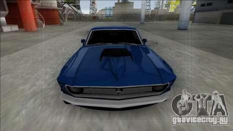 1970 Ford Mustang Boss 429 для GTA San Andreas вид сзади