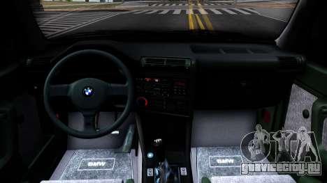 BMW M3 E30 для GTA San Andreas вид изнутри