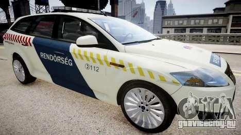 Hungarian Ford Police Car для GTA 4 вид справа