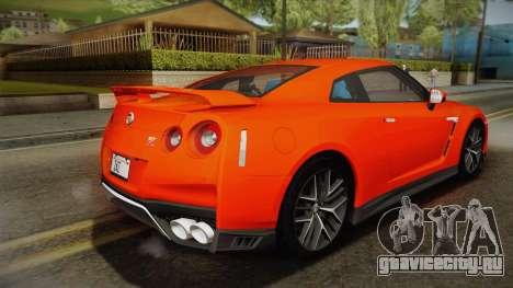 Nissan GT-R Premium 2017 для GTA San Andreas вид слева