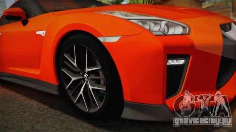 Nissan GT-R Premium 2017 для GTA San Andreas вид сзади слева