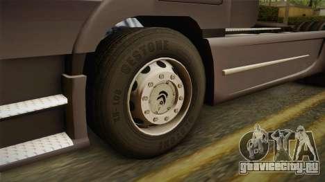 Mercedes-Benz Actros для GTA San Andreas вид сзади