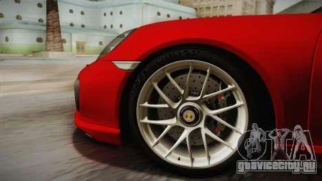 Porsche 911 Turbo S 2017 для GTA San Andreas вид сзади слева