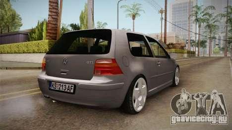 Volkswagen Golf Mk4 GTI для GTA San Andreas вид сзади слева