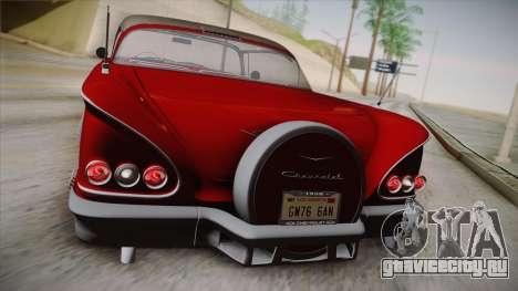 Chevrolet Impala Sport Coupe V8 1958 IVF для GTA San Andreas вид изнутри