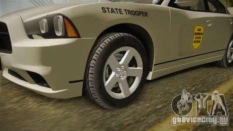 Dodge Charger 2012 SA State Patrol для GTA San Andreas вид сзади
