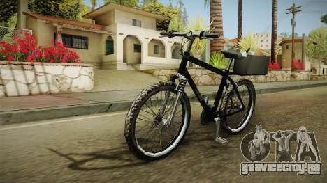 Police Mountain Bike для GTA San Andreas вид сзади слева