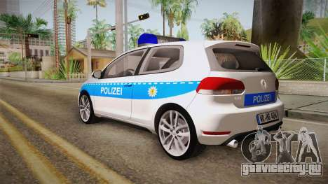 Volkswagen Golf Mk6 Police для GTA San Andreas вид слева