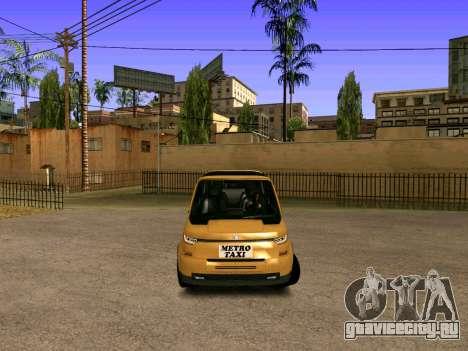MetroTaxi для GTA San Andreas вид справа