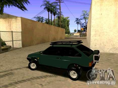 ВАЗ-2108 4x4 для GTA San Andreas вид сзади слева