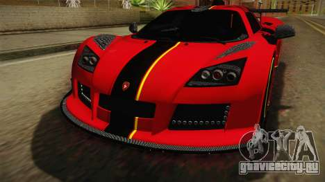 Gumpert Apollo Enraged для GTA San Andreas вид сбоку
