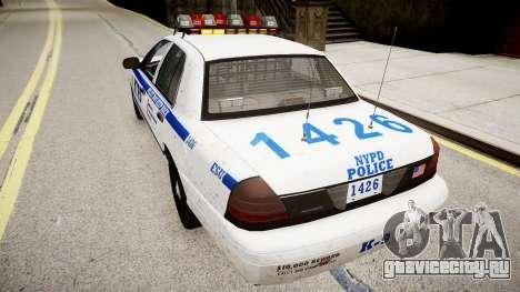 Ford Crown Victoria Police In 2009 для GTA 4 вид сзади слева