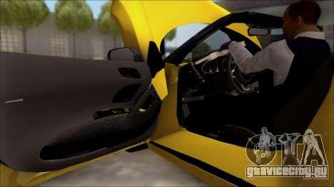 Audi R8 Spyder 5.2 V10 Plus для GTA San Andreas вид изнутри