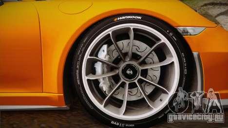 Porsche 911 R (991) 2017 v1.0 для GTA San Andreas вид сзади слева