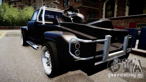 Towtruck Pickup Truck для GTA 4 вид сзади слева