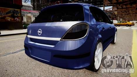 Opel Astra 1.9 TDI для GTA 4 вид слева