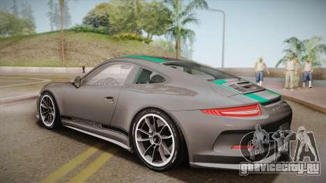 Porsche 911 R (991) 2017 v1.0 Green для GTA San Andreas вид слева