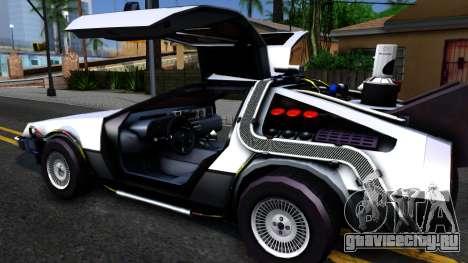 Delorean DMC-12 Time Machine для GTA San Andreas