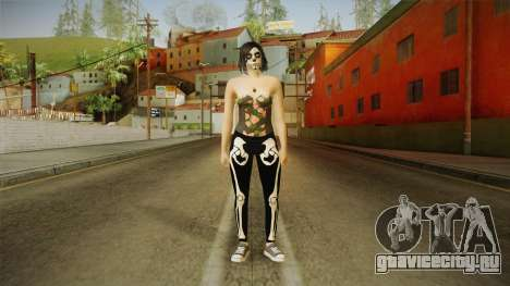 Halloween Surprise DLC Female Skin для GTA San Andreas второй скриншот