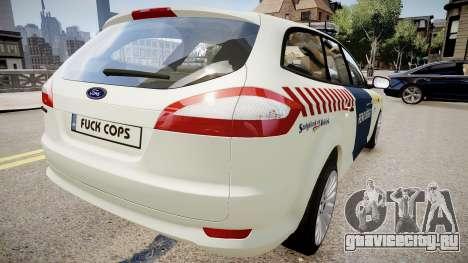 Hungarian Ford Police Car для GTA 4 вид сзади слева