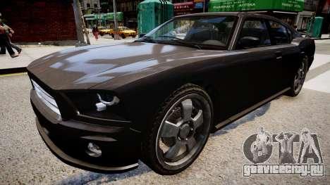 NYPD Police Dodge Charger для GTA 4 вид справа