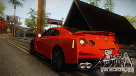 Nissan GT-R Premium 2017 для GTA San Andreas вид сверху