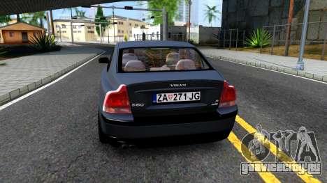 Volvo S60R для GTA San Andreas вид сзади слева